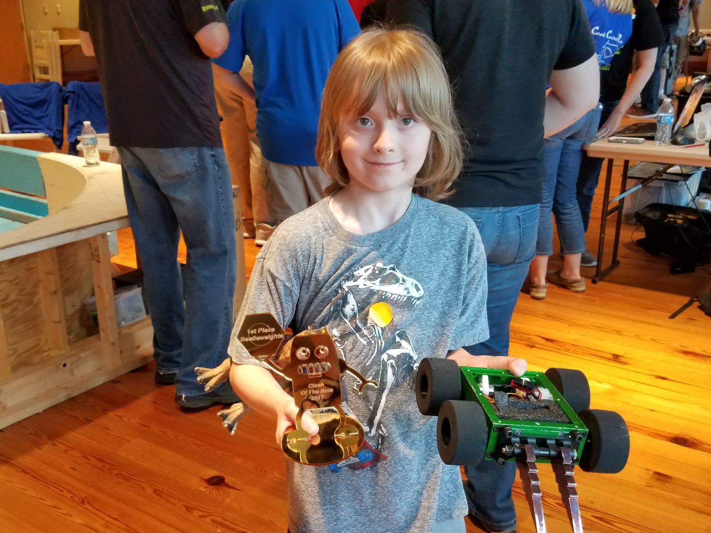 4th Grader Sawyer Wins Robot Competition